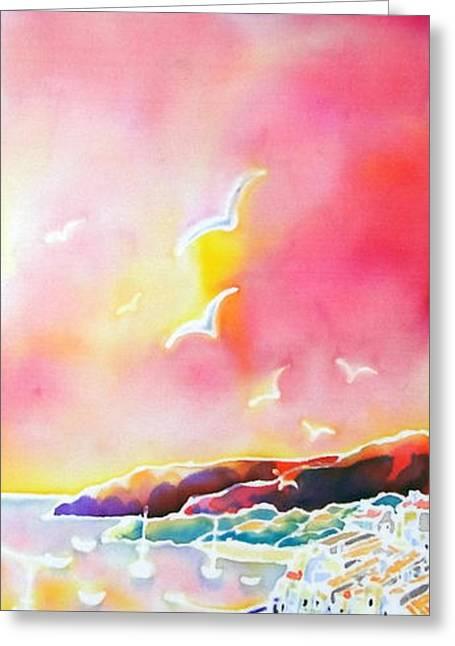 Sunset In Costa Brava Greeting Card