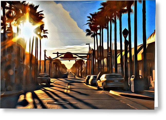 Sunset In Daytona Beach Greeting Card by Alice Gipson