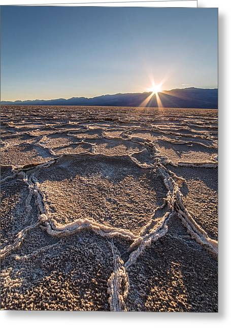 Sunset In Death Valley  Greeting Card by Pierre Leclerc Photography