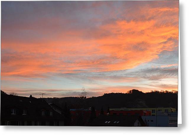 Greeting Card featuring the photograph Sunset In December by Felicia Tica