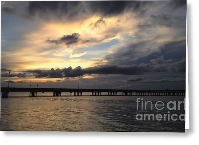 Greeting Card featuring the photograph Sunset In Florida by Gina Cormier