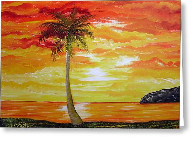 Sunset In Florida Greeting Card