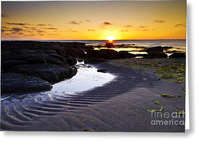 Greeting Card featuring the photograph Sunset In Iceland by Gunnar Orn Arnason