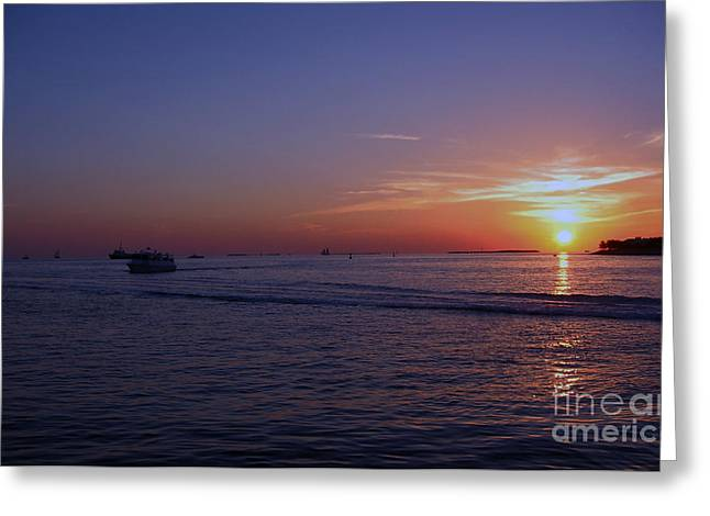 Sunset In Keywest Greeting Card