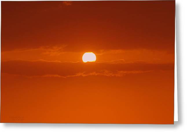 Sunset In Kona Greeting Card by Athala Carole Bruckner