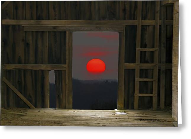 Sunset In Leraysville Greeting Card by David Simons