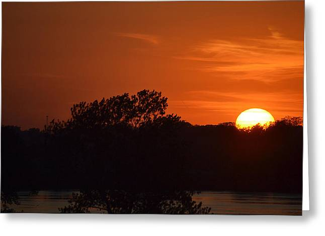 Sunset In Music City Greeting Card by Joe Bledsoe