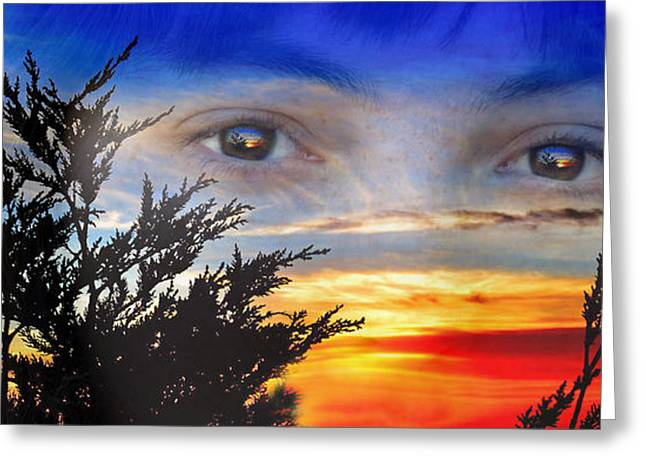 Sunset In My Eyes Greeting Card by Jim Fitzpatrick