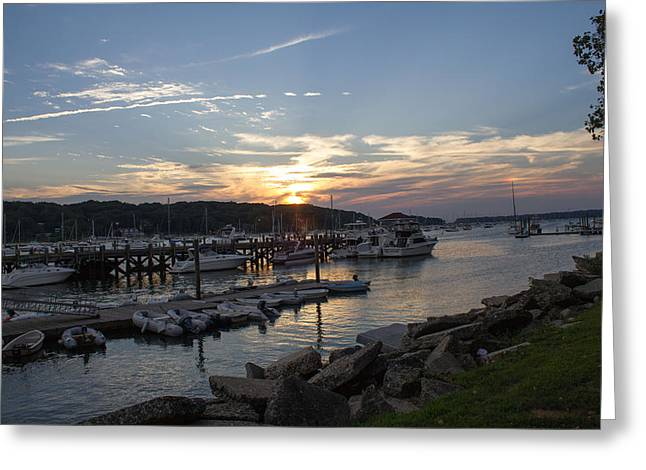 Sunset In Northport Greeting Card