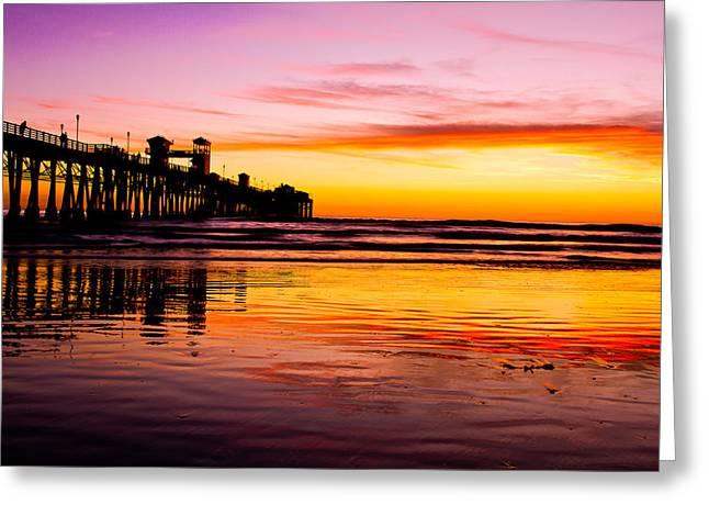Sunset In Oceanside Greeting Card