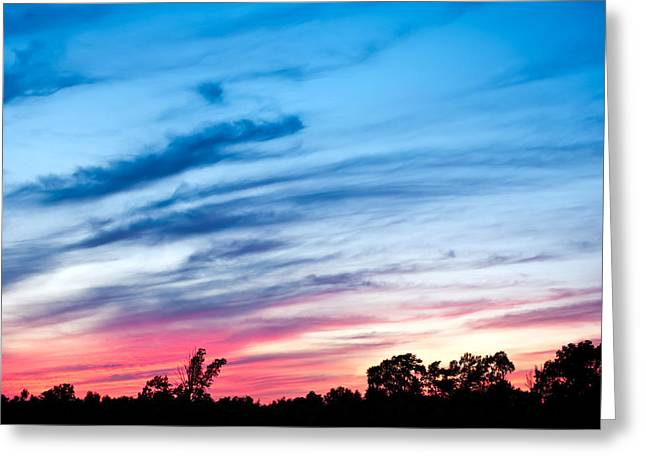 Greeting Card featuring the photograph Sunset In Ontario Canada by Marek Poplawski