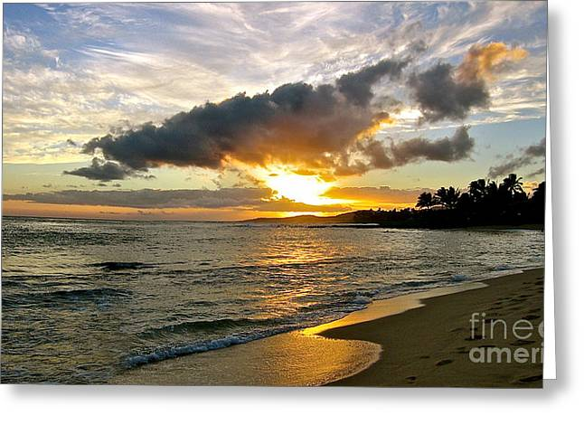 Sunset In Paradise Greeting Card by Jason Clinkscales