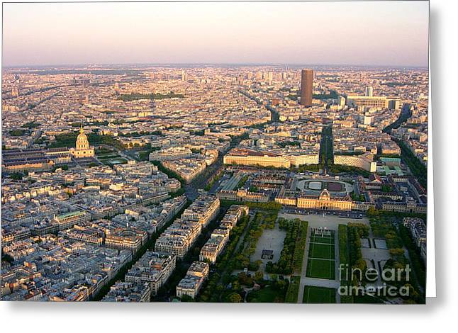 Greeting Card featuring the photograph Sunset In Paris by Deborah Smolinske