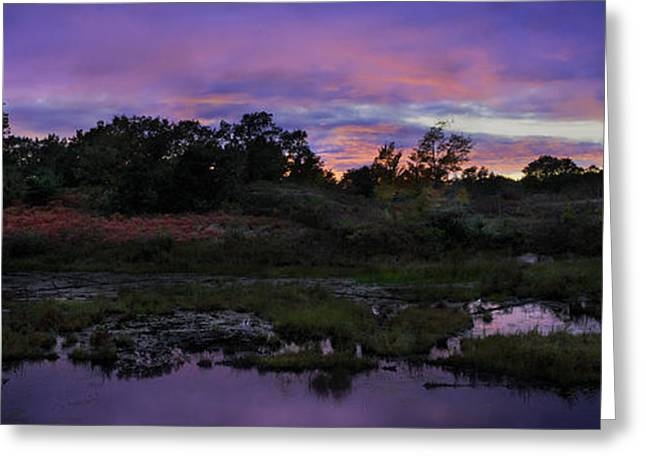 Sunset In Purple Along Highway 7 Greeting Card by Peter v Quenter