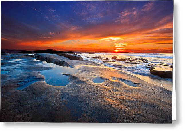 Sunset In San Diego Greeting Card