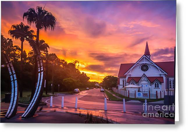 Greeting Card featuring the photograph Sunset In Sandgate by Peta Thames