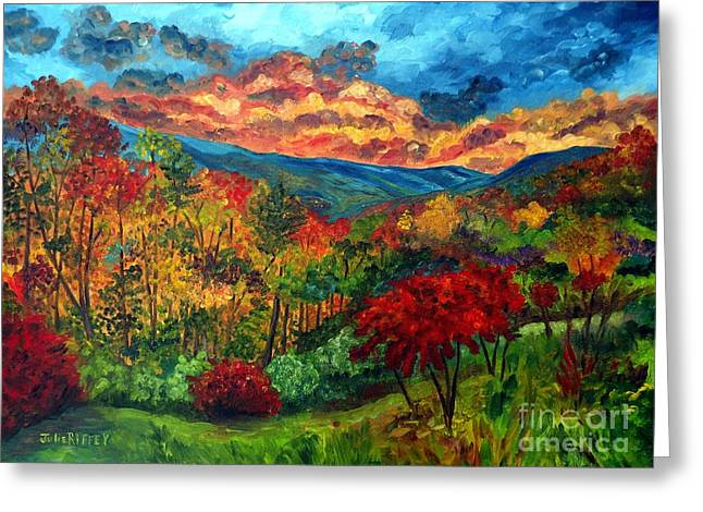 Sunset In Shenandoah Valley Greeting Card