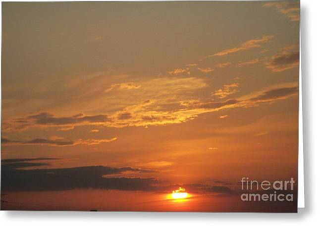 Greeting Card featuring the photograph Sunset In St. Peters by Kelly Awad