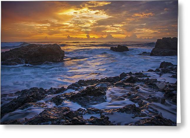 Sunset In Tamarindo Greeting Card