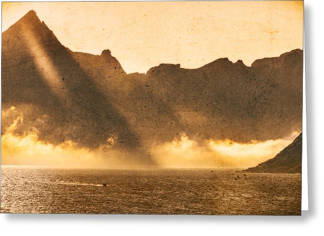 Greeting Card featuring the photograph Sunset In The Arctic  by Maciej Markiewicz