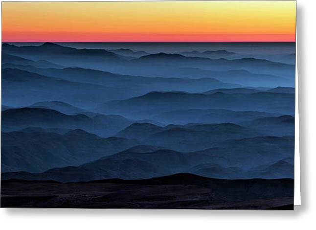 Sunset In The Atacama Desert Greeting Card