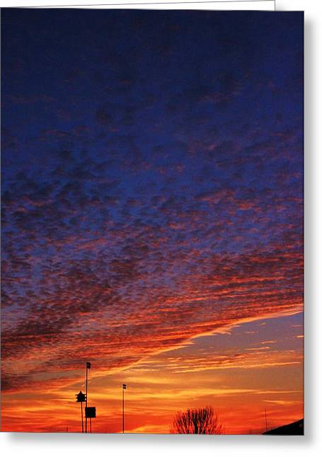Sunset In The Clouds Greeting Card by David Pauley