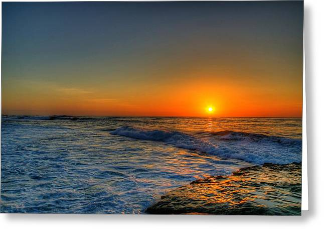Sunset In The Cove Greeting Card