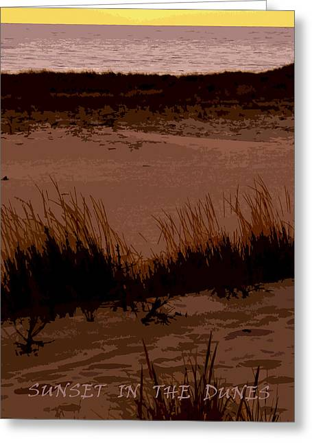 Sunset In The Dunes Greeting Card