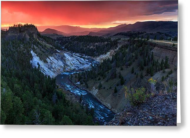 Sunset In The Greater Yellowstone Greeting Card