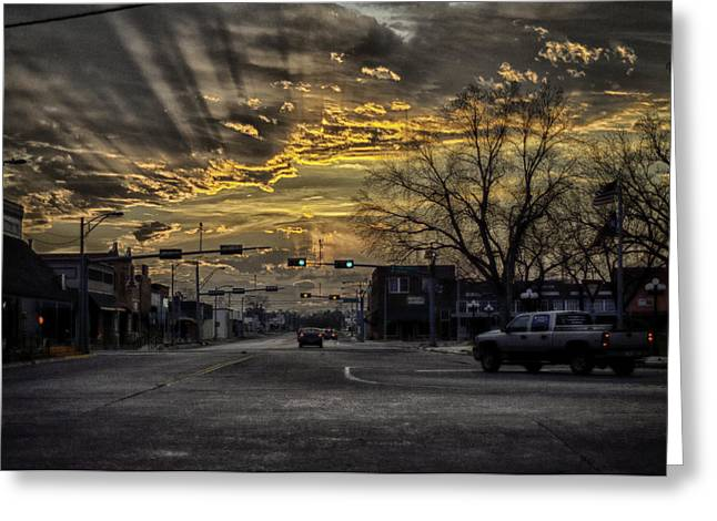 Sunset In The Heart Of Texas Greeting Card