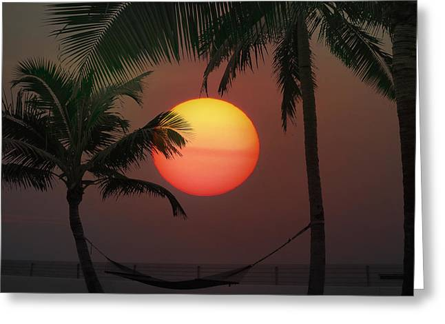 Sunset In The Keys Greeting Card by Bill Cannon