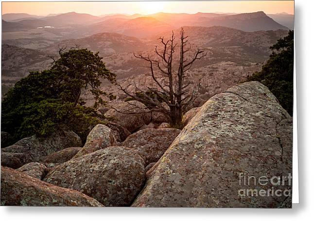 Sunset In The Mount Scot Greeting Card by Iris Greenwell