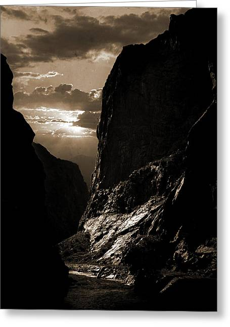 Sunset In The Royal Gorge, Col, Jackson, William Henry Greeting Card by Litz Collection