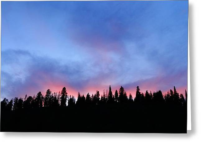 Sunset In The Tetons Greeting Card by Dan Sproul