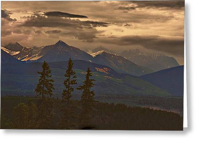 Sunset In Yoho Greeting Card by Janet Ashworth