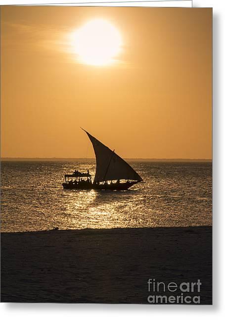 Sunset In Zanzibar Greeting Card by Pier Giorgio Mariani