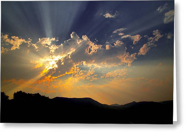 Sunset Greeting Card by Jim Snyder