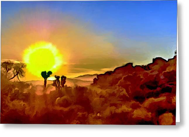 Sunset Joshua Tree National Park V2 Greeting Card