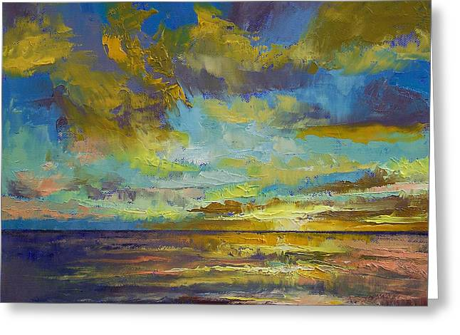 Sunset Key Largo Greeting Card by Michael Creese