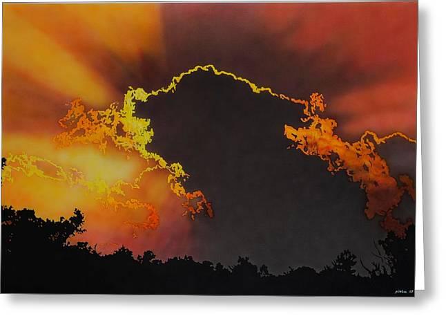 Sunset Greeting Card by Konstantinos-Pimba Botas