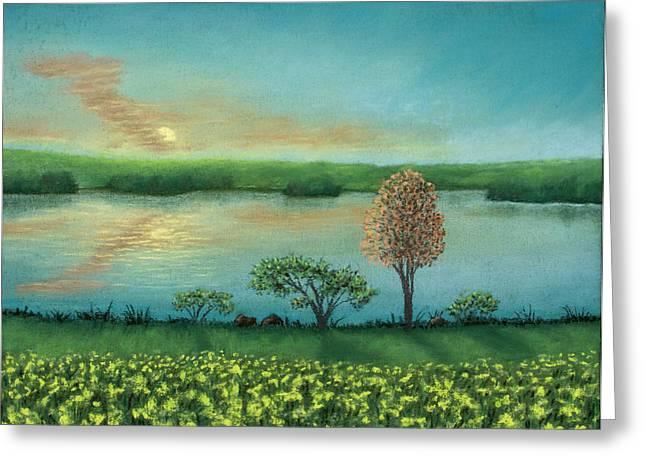 Sunset Lake B Greeting Card
