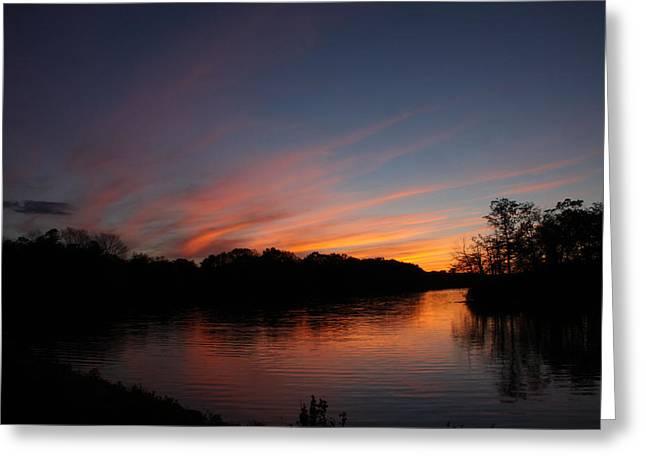 Sunset Lake Williams Greeting Card