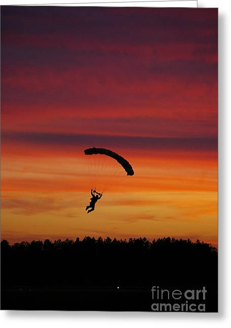 Sunset Landing Greeting Card