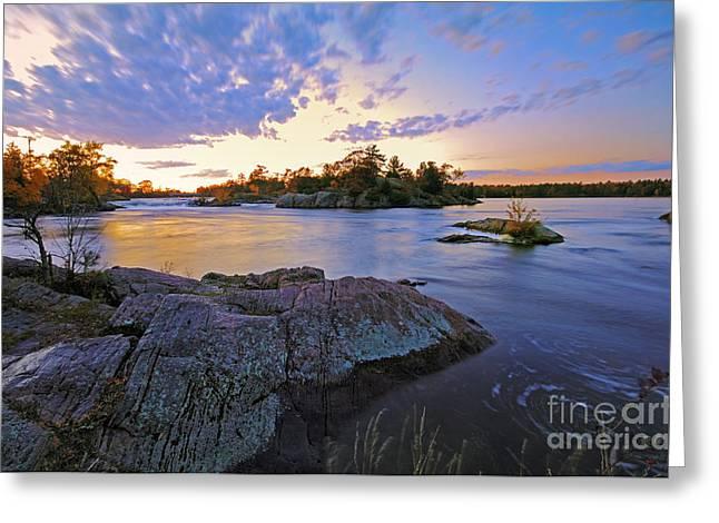 Sunset Landscape Greeting Card
