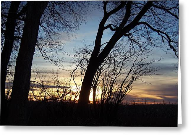 Greeting Card featuring the photograph Sunset 1 by Larry Campbell