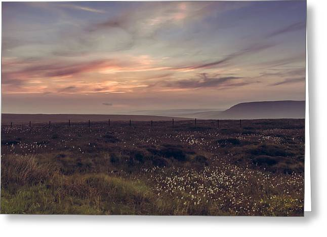 Sunset Light In The Peak District Greeting Card by Chris Fletcher