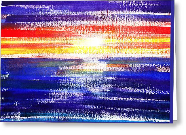 Sunset Lines Abstract Greeting Card