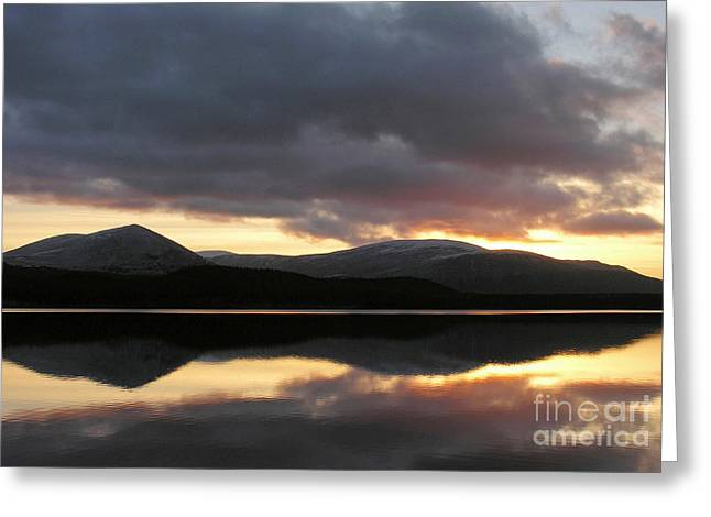 Sunset - Loch Morlich - Scotland Greeting Card