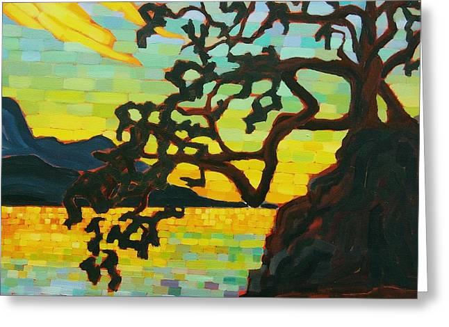 Sunset Mambo Greeting Card by Janet McDonald