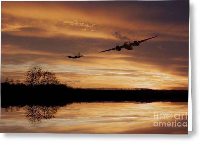 Sunset Marauders  Greeting Card by J Biggadike
